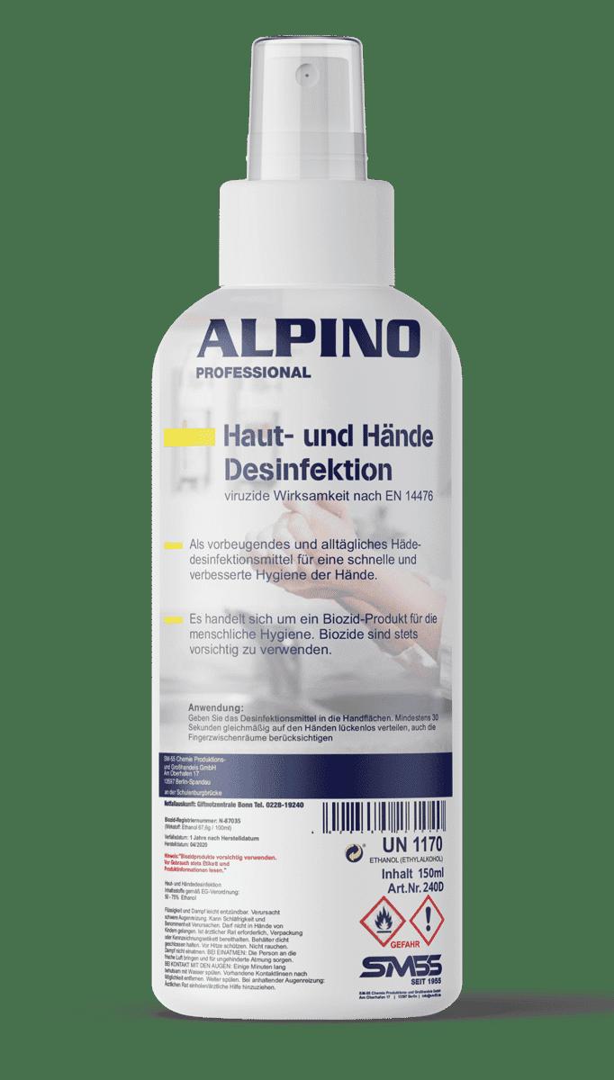 Alpino Haut- und Hände Desinfektion 150ml