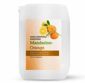 Sauna-Dampfbad Konzentrat Mandarine-Orange 5L